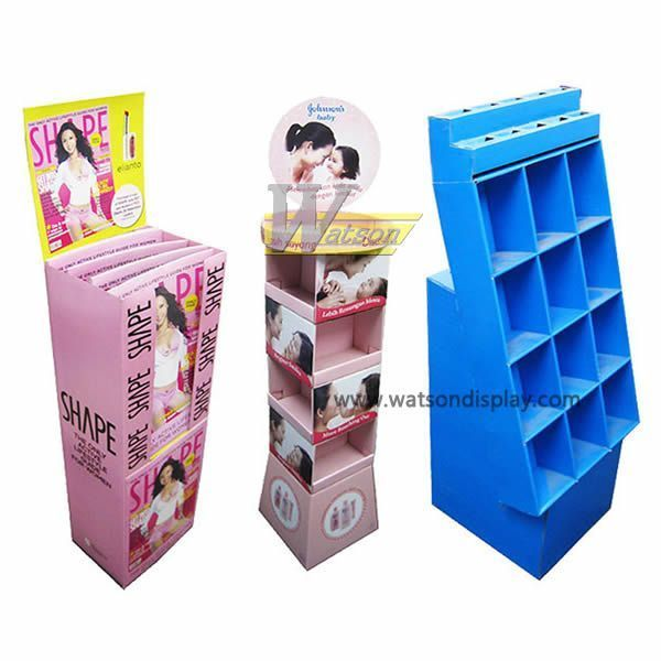 cardboard greeting card display stand for retail
