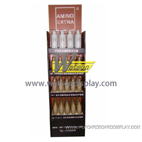 corrugated paper cosmetic display stands