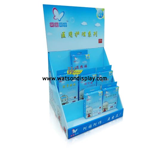 China supply cardboard counter displays