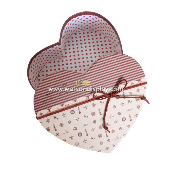 Cardboard heart shape gift box christmas for candy