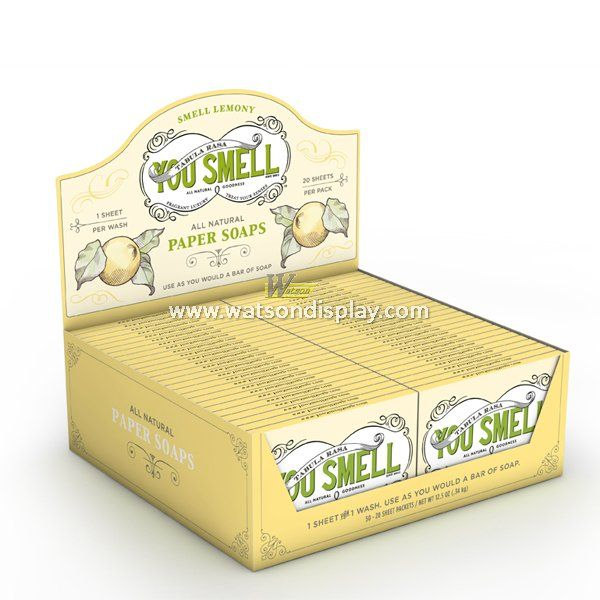 Best quality cardboard counter desk displays box for soaps