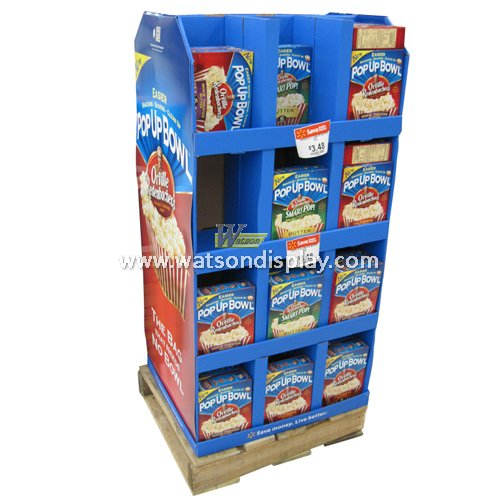 Chocolate biscuit promotion pallet display