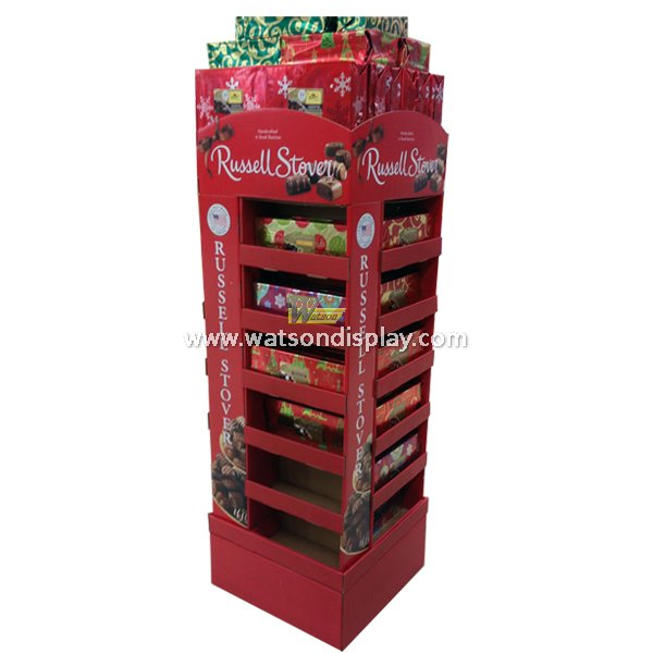 Christmas promotion gift cardboard display racks in black friday