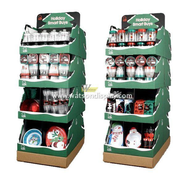 American holidays promotion corrugated display stands for christmas gift