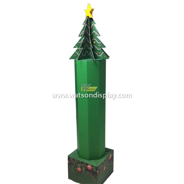 Christmas trees design paperboard display stand for holiday retail