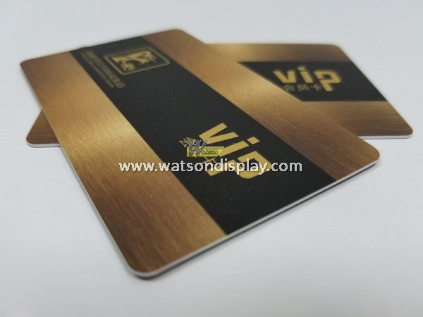 Blank pvc cards with metal wiredrawing craft for hotel