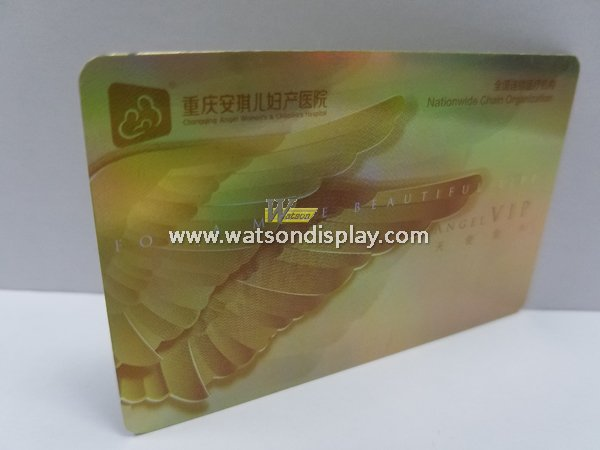 3D Laser plastic specialty cards for hospital