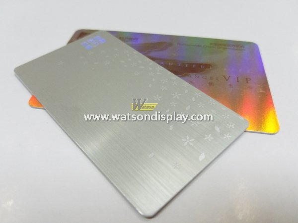 Gold and silver wiredrawing pvc RFID cards with embossing