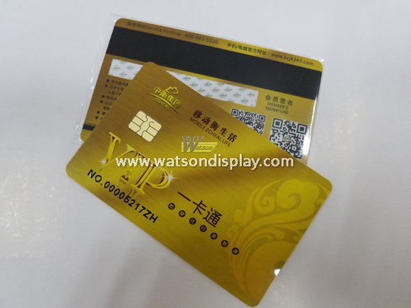 Gold color plastic contact vip cards for high-end apartment