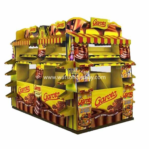 Large promotion cardboard pallet display for chocolate