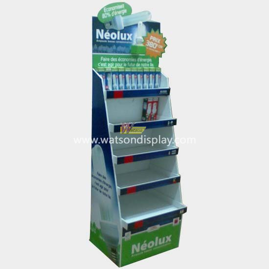 Energy-saving light bulbs  promotion pallet display stand