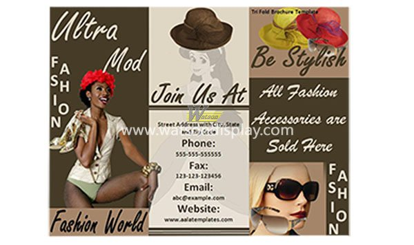 The fashion business brochure printing