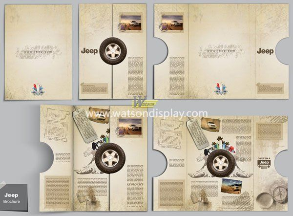 Personality jeep printing brochure