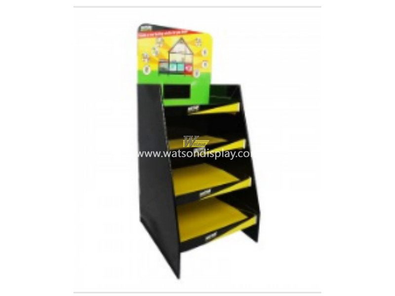 Black Four-Shelf Equipment Cardboard Floor Display