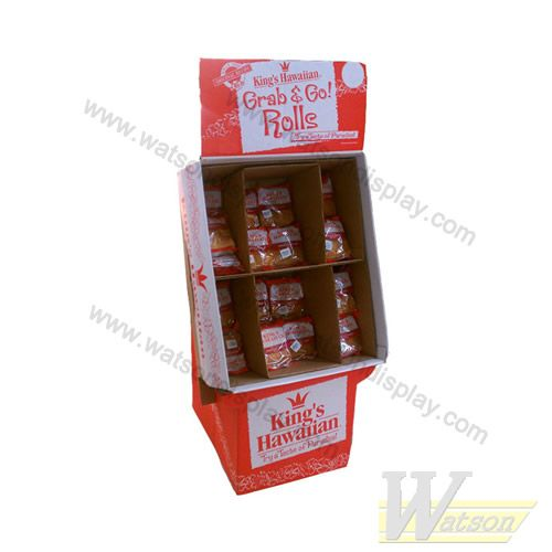 Bread cardboard display stand