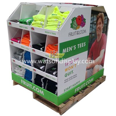 Clothing paper pallet display