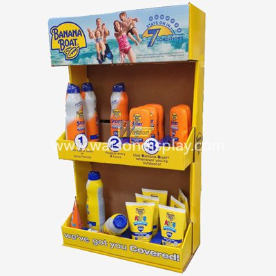 skin care products desktop paper display stand