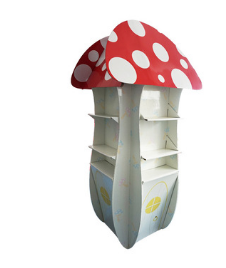 creative mushroom paper rack cardboard display stand