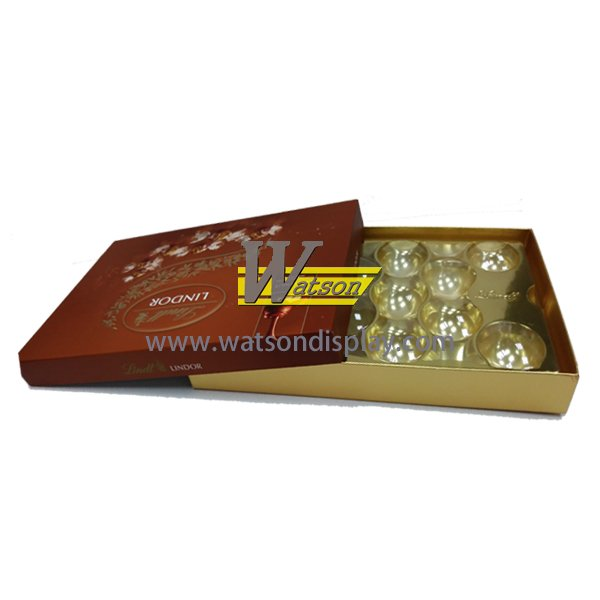 China factory manufacture cardboard chocolate gift packing box with blister