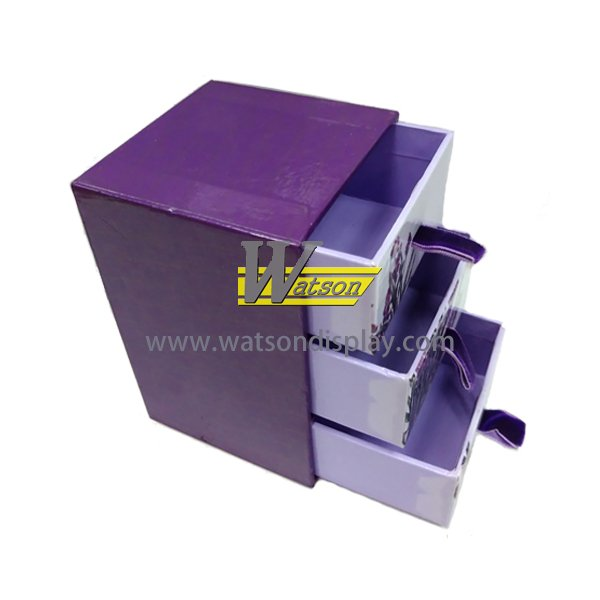 3 tiers drawer cosmetic gift multifunction packing box with ribbon
