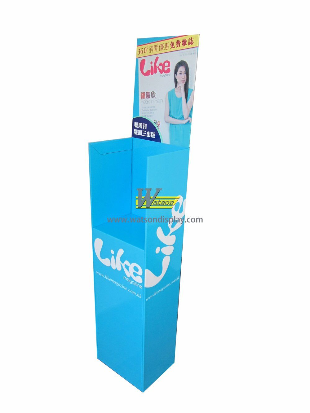 Exhibition promotion cardboard display stands for magazine