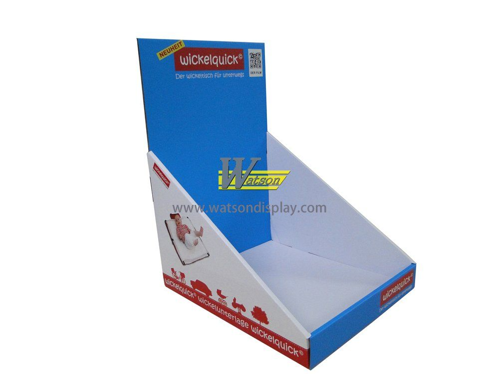 Baby products promotion pop corrugated custom counter display box