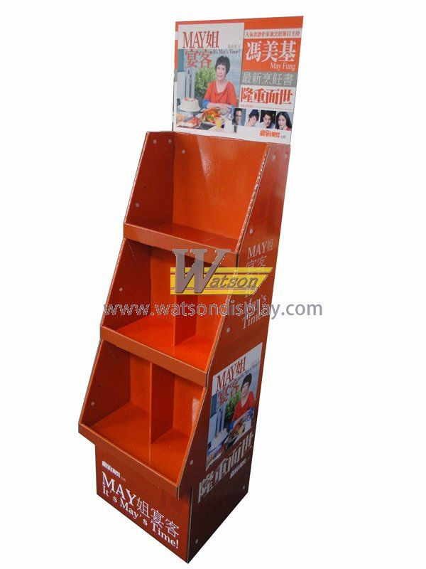 Advertising book paperboard tray display stand for food