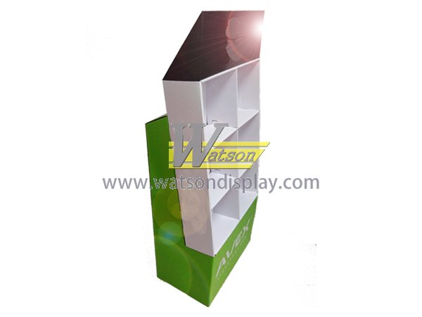 Store promotion custom cardboard compartment display stand for cup