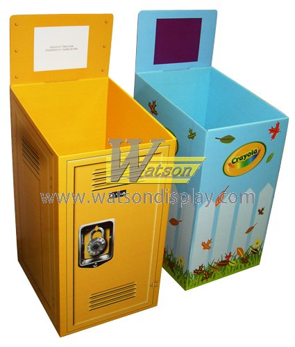 Best price custom logo and color cardboard display dump bin for games