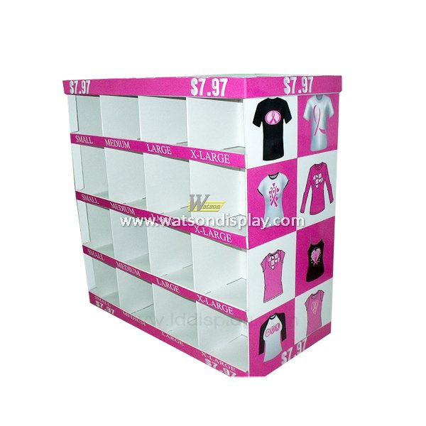 High quality with best price supermarket promotion clothing cardboard display rack
