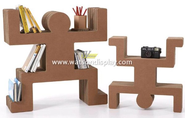 Strong structure corrugated creative interest displays for book or maganize